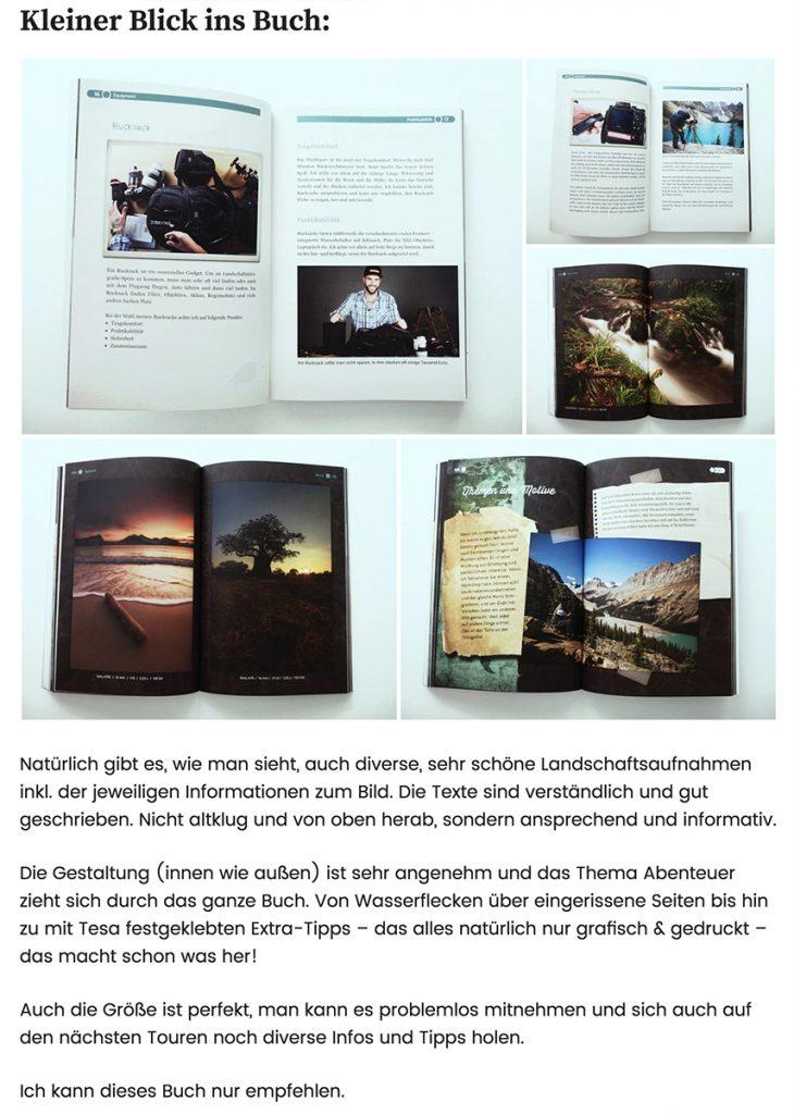 Abenteuer Landschaftsfotografie Buch Rezension