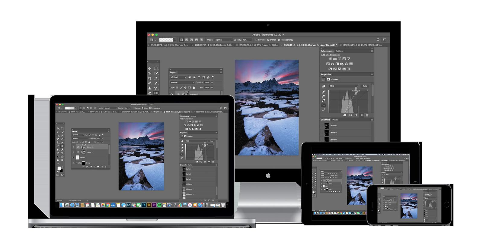Benjamin Jaworskyj Landschaftsfotos mit Photoshop bearbeiten lernen Mockup