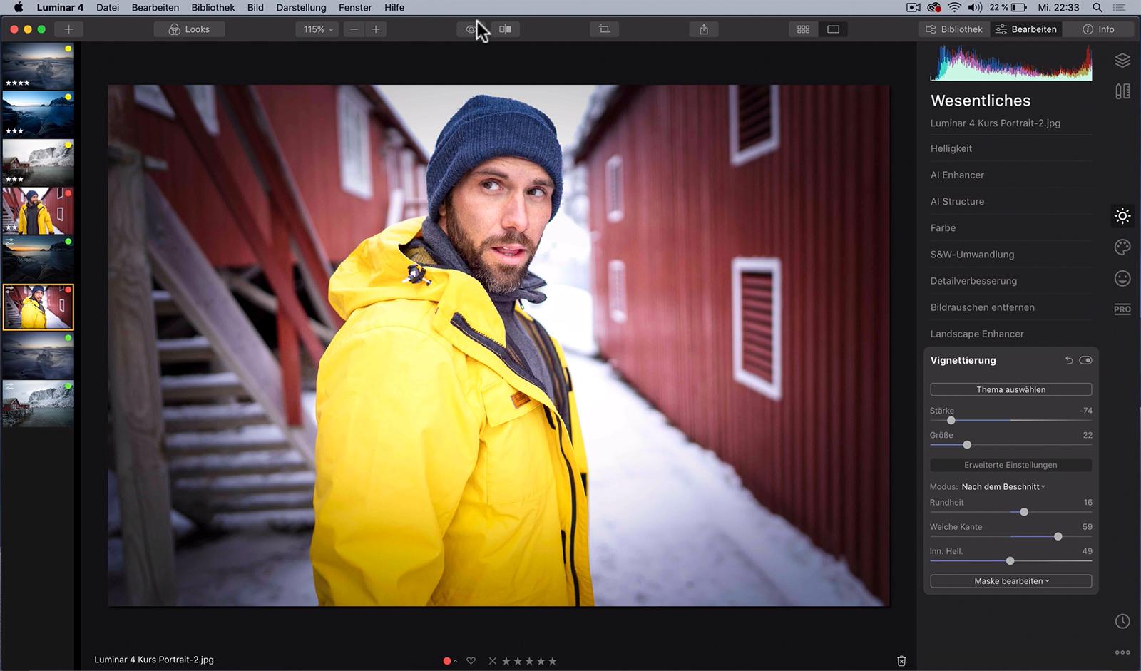 Grundlagen Bildbearbeitung Luminar 4 Videokurs fuer Anfaenger