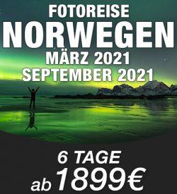 Abenteuer Fotoreise Norwegen MENUE 2021